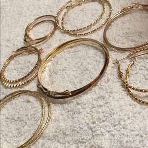 Slim cute Gold hoop earrings